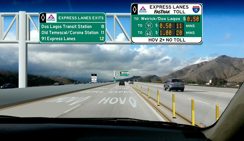 Toll Lanes Now Open on 91 Freeway