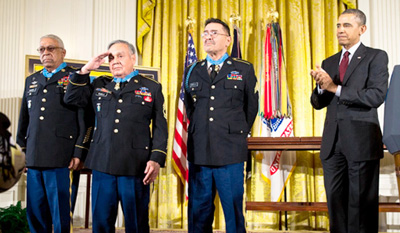President Barack Obama recognizes Medal of Honor honorees