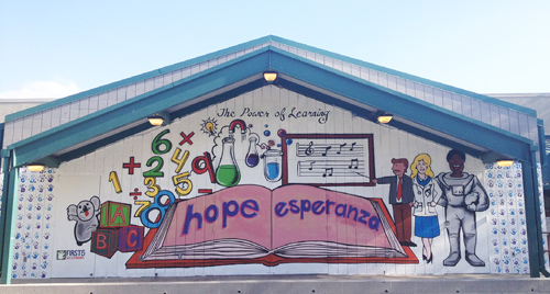 AmeriCorps Paints E. Neal Roberts Elementary With The 'Power of Learning'