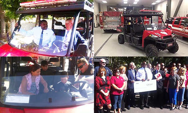 Fireman's Fund Heritage Grant Donates All-Terrain Vehicle to Riverside Fire Department