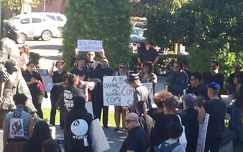 Riverside citizens care and demand justice in the shooting of Michael Brown