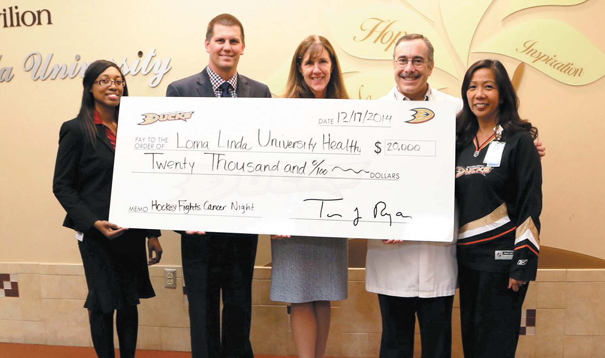 Anaheim Ducks Donate $20,000 to Loma Linda University Health to Support Cancer Services