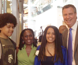 New York Mayor Bill De Blaiso and family. (Photos courtesy of Facebook