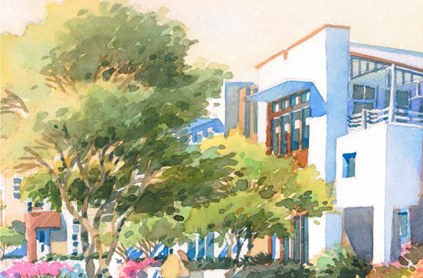 One of many artist renderings of the New Waterman Gardens