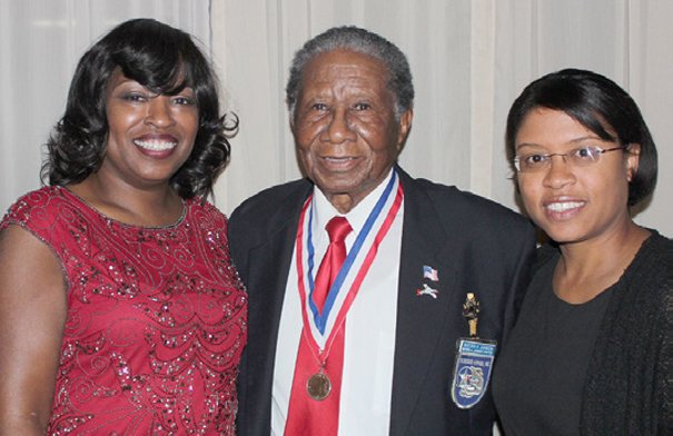 With Dr. Denise Fleming and Tuskegee Airman Buford Johnson