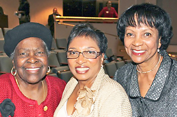 Lois with Assemblymember Cheryl R. Brown and former Assemblymember Wilmer Amina Carter