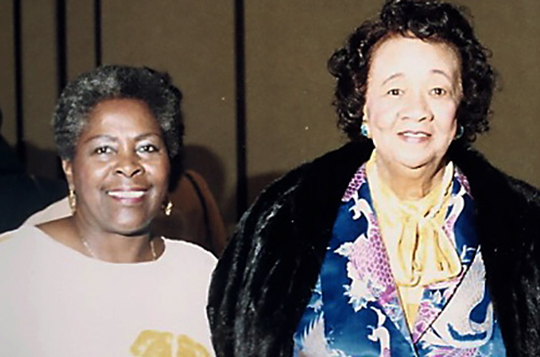 Lois with NCNW President Dorothy Height