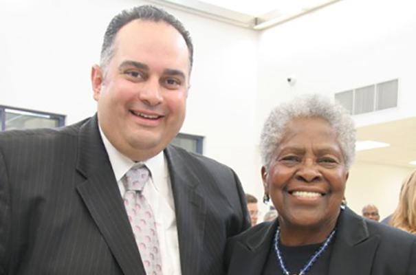 Lois with former Speaker John Perez