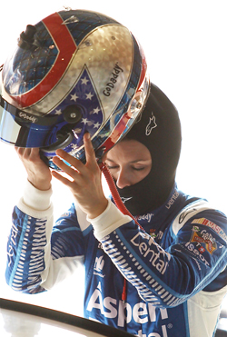 GO DADDY GIRL - Danica Patrick competed in the hot Fontana sun all day and finished 19th on Sunday.
