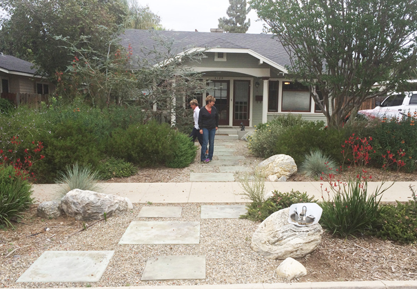 They have saved hundreds of dollars since switching out the lawn in 2009 with drought-tolerant plants at their Riverside home.