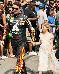 SO LONG JEFF GORDON - The iconic NASCAR driver, with 92 all time victories, walks the Red Carpet at Fontana with his daughter, for the very last time.