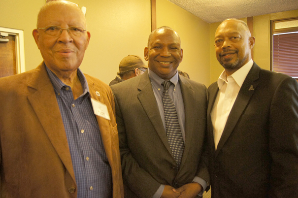Retired UCR Police Chief Bill Howe, RPD Lt. Val Graham, and Craig Goodwin.