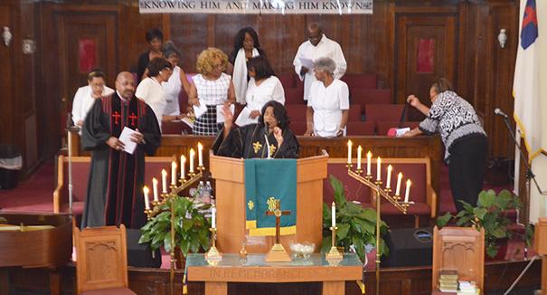 Senior Pastor Noella Austin Buchanan of Allen Chapel AME Church