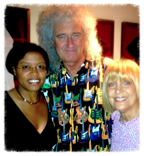 Brian poses for a photo with Paulette and Kathy after the concert.