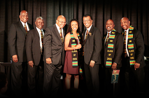 2015 CPAG board and senior scholarship recipient (from left to right: Rufus Rosser, Tommie Denson, Louis Davis, Amber McKenzie($1000 scholarship recipient), Judge Richard Fields, Mel Campbell, Geary Haynes)