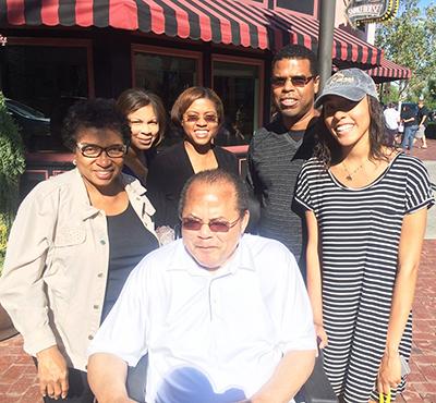 With Regina & Family