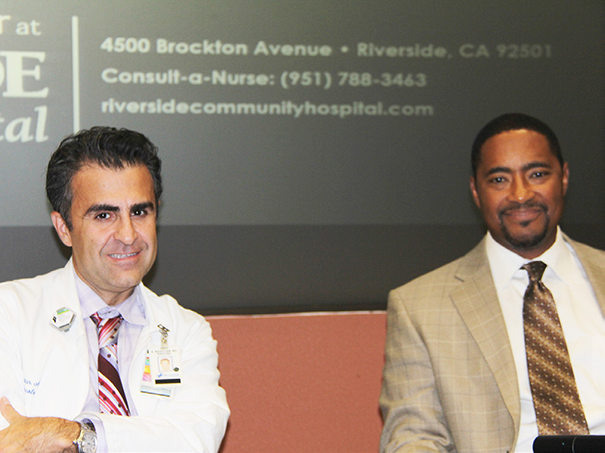 Radiation Oncologist, Afshin Rashtian, MD, RCH Cancer Center, (left), & Surgical Oncologist, Carl Walker, MD, The Urology Center of Southern California.
