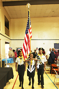 Flag presentation from Riverside Unified School District ROTC students