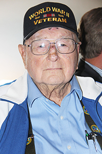 Guest of Honor James E. Benham (US Army), now 97-years-old served in the Pacific during WWll. Photo by John Coleman