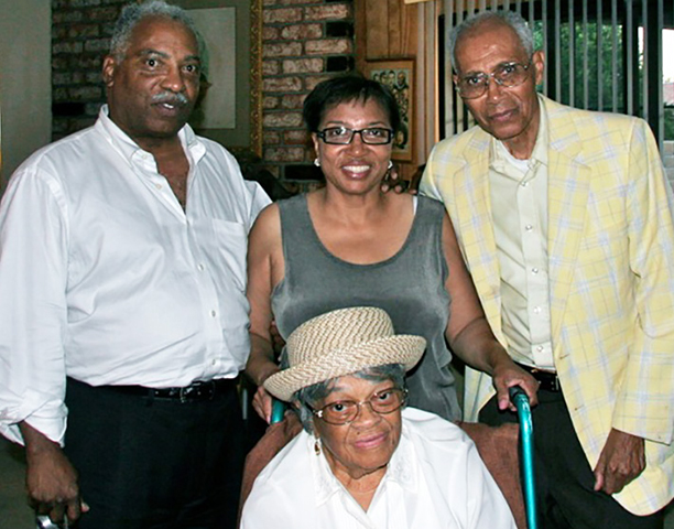 Vera Mae Minter, with nephew Dexter, niece Cheryl, and husband William
