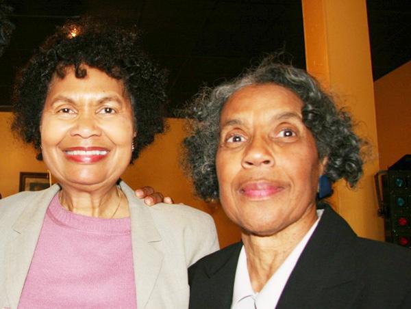 Sylvia with UCR Librarian Emeritus Ruth Jackson.
