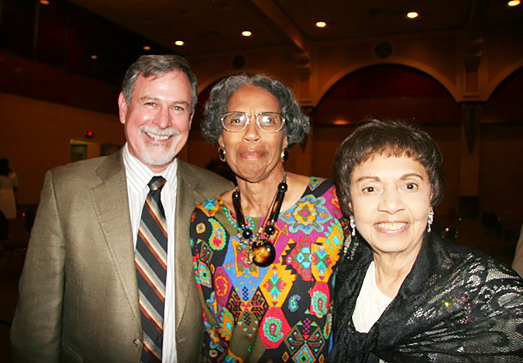 Sylvia at a Riverside Chamber Gala with Don Ecker and Dr. Lula Mae Clemons.