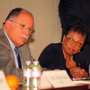 Asm. Members Jose Medina (Riverside) and Cheryl Brown (San Bernardino)