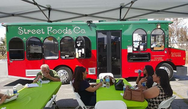 Street Foods Co. food truck at the Boys & Girls Club of Perris.