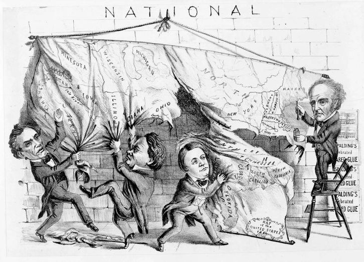 """Dividing the National Map""–Harper's Weekly (1860)"