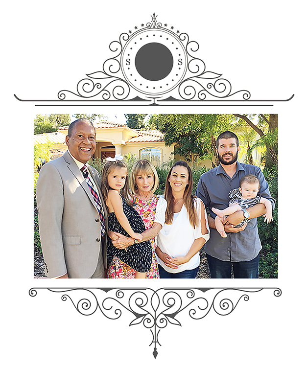 Chuck Washington, his wife,Kathy, their daughter, Lindsey, granddaughter, Charlie, a son-inlaw, Elliott and grandson, Kellen.