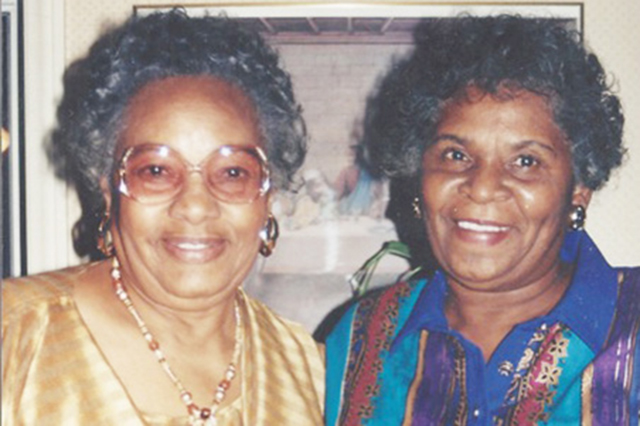 Sis Kelley and Bettye Taylor with her mother