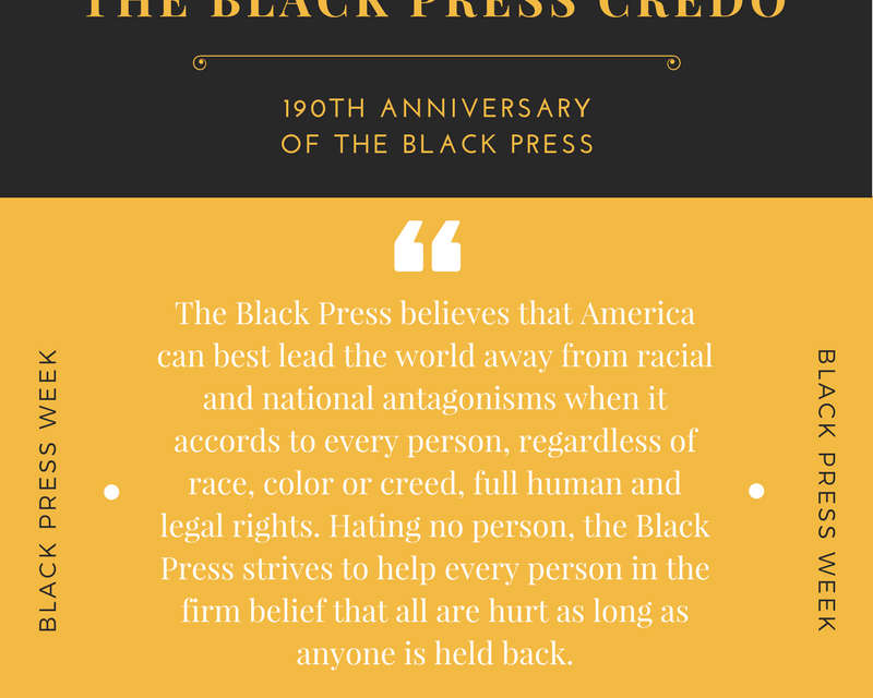 Black Press Week & The Freedom of the Press in the Trump Era