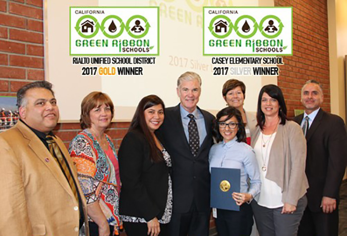 "Congratulations to Rialto's ""Green Ribbon Schools"" Award Winners"