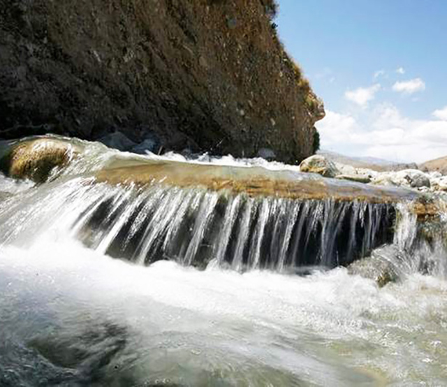 Water at Whitewater flows toward percolation ponds in Palm Springs