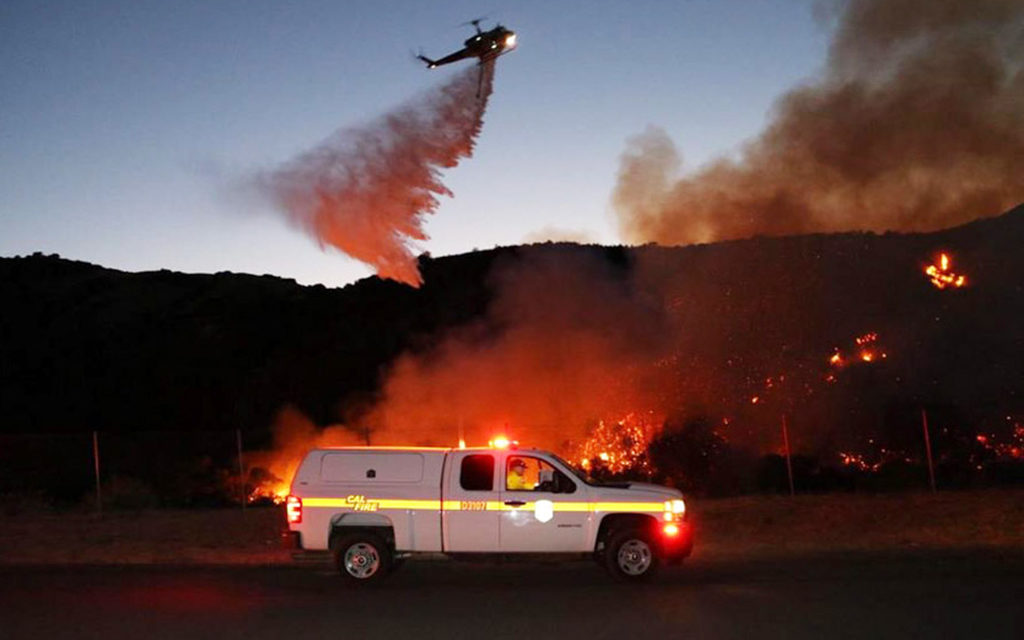Aided by Strong Winds, Wildfires Burn Across the Inland Region