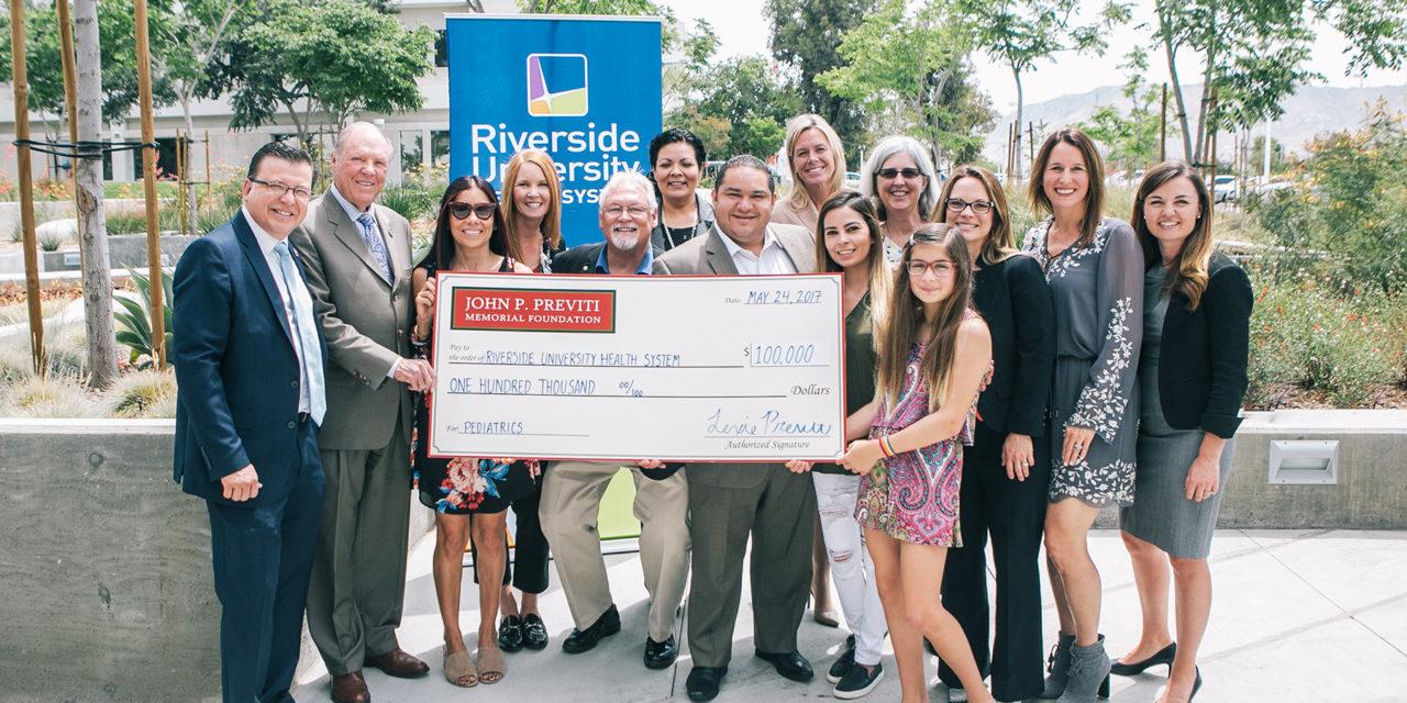Riverside University Health System Medical Center Receives Major Gift