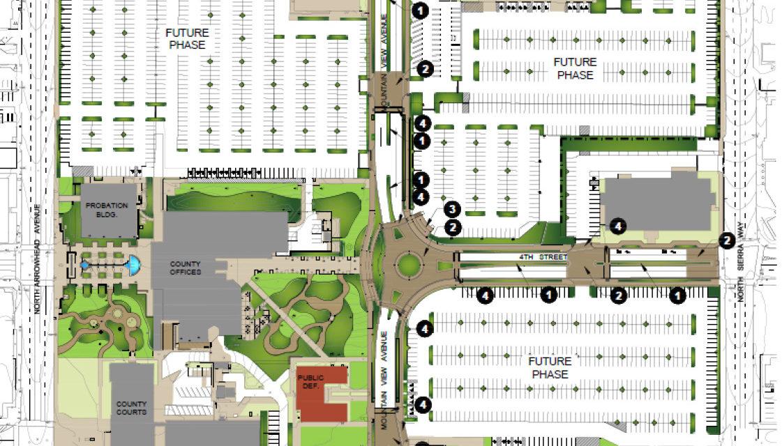 Street Improvements, Closures begin at San Bernardino County Government Center