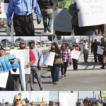 RACISM UP THE HILL: They came to protest discrimination at Victorville's Rancho Motor