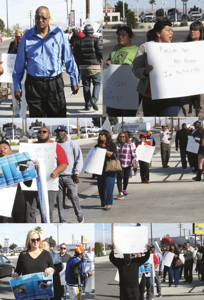 Rancho Motors Victorville >> Racism Up The Hill They Came To Protest Discrimination At