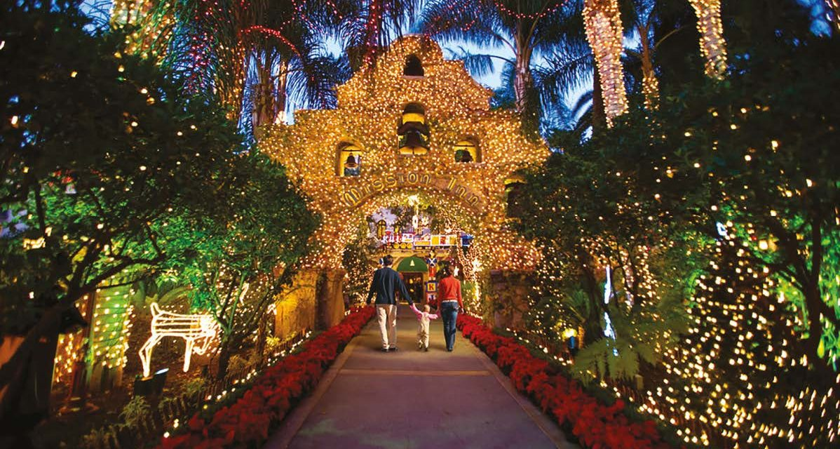 Riverside's Mission Inn Lights Up the Holidays