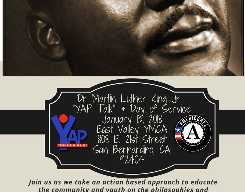 Youth Action Project Presents: YAP TALKS: An MLK Event Followed by Service