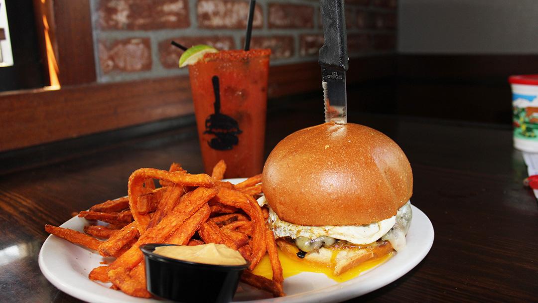 Relaunch of Rancho Cucamonga Slater's 50/50 Burgers