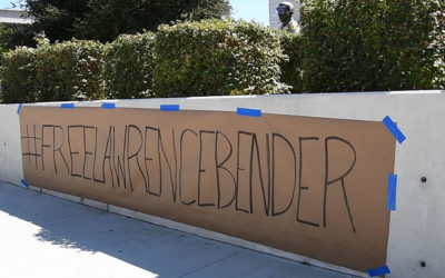 Protesters arrested supporting Lawrence Bender, new court date