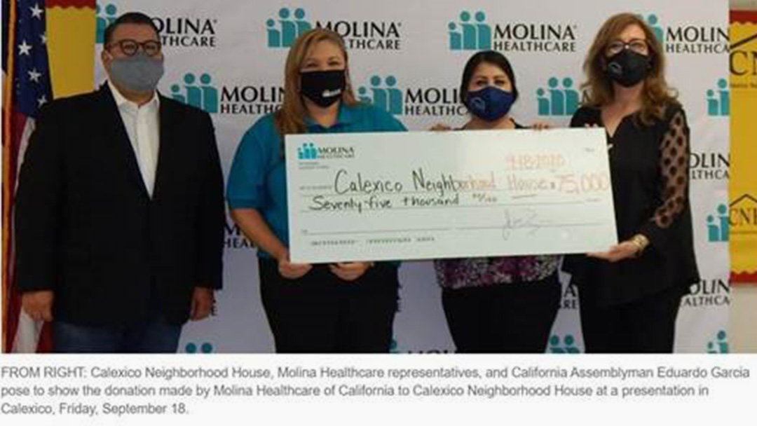 Molina Healthcare Supports Calexico Neighborhood House Efforts to Combat Homelessness