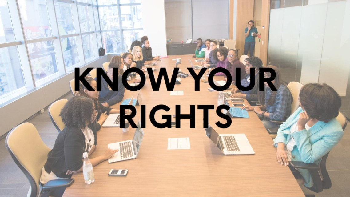 Know Your Rights: Sexual Harassment in the Workplace