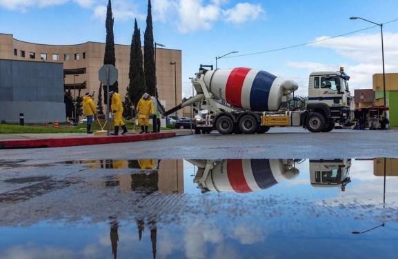 San Bernardino Mayor Vetoes Bill to Remove Concrete Stockpiles in the City